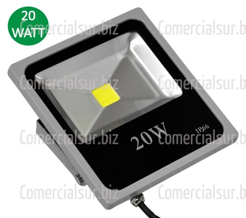 Reflector Led 20 Watts Exterior Proteccion IP 66 Blanco Frio