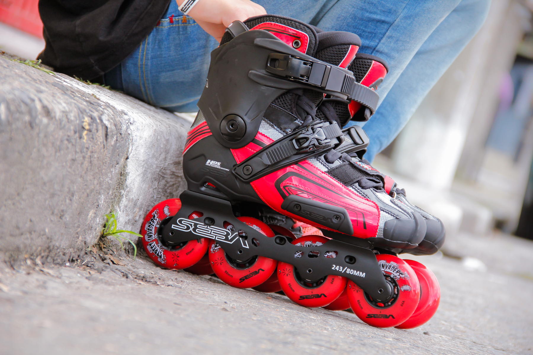 Patins Seba High Light Red (Vermelho) / patins para slalom, urban e freeride