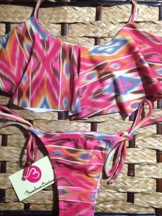 Biquíni Cropped Tribal REF 411