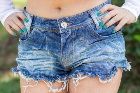Short Jeans 3D Degrant