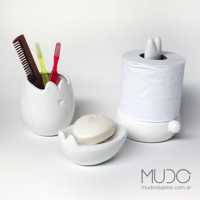 Linea completa accesorios de ba o color blanco for Accesorios bano color blanco