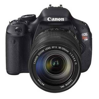 Camera Canon Eos Rebel T3i Lente 18-55mm 18mp Filma Full Hd