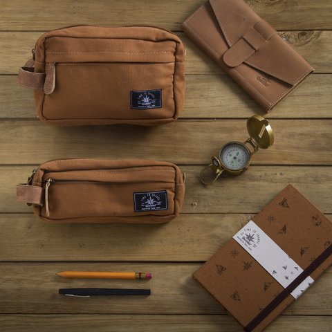 TRAVEL CASE KIT BROWN