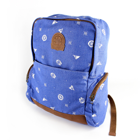 NEW CLASSIC BACKPACK · NAVY PRINT