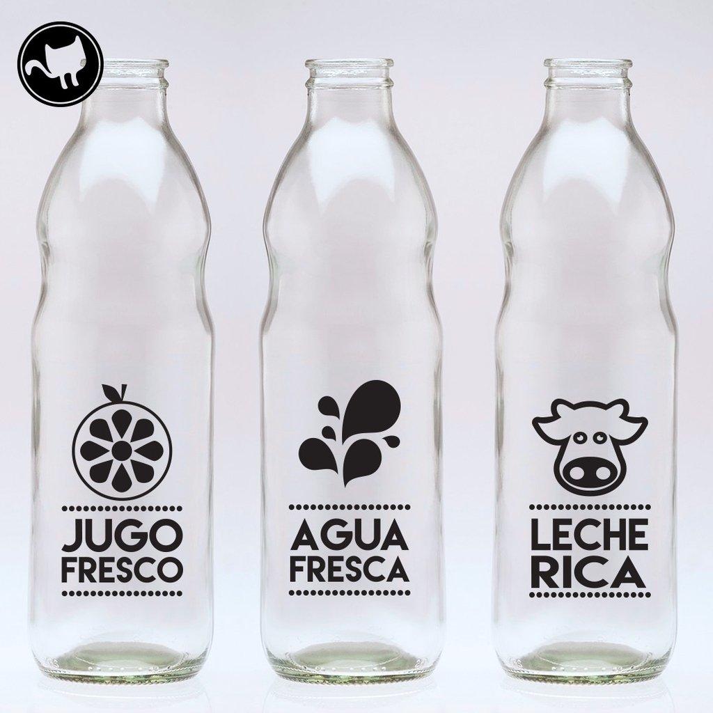 Botellas dibujos comprar en looma for Vinilos para mesas de cristal