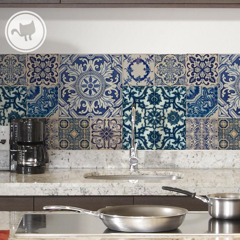 Azulejos azurra comprar en looma for Azulejos decorativos cocina