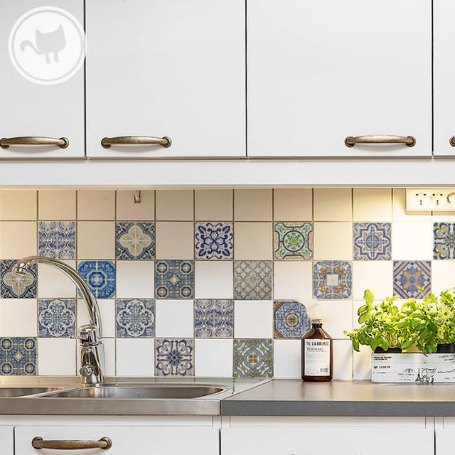 21 genial vinilos azulejos cocina im genes vinilos - Azulejos decorativos cocina ...