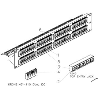 MPE-11 K - Patch Panel Cat5e 48p