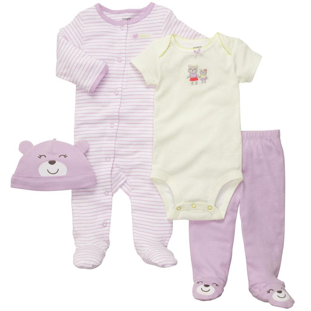 Ropa carters para bebe conjunto 4 piezas pijama body for Piezas para bebes