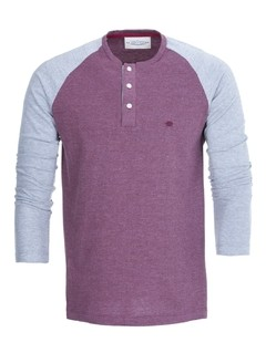 Remera 9 de Julio - Bordo y Gris