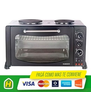 HORNO ELECTRICO RANSER HE RA46PRO 2 ANAFES 46LTS