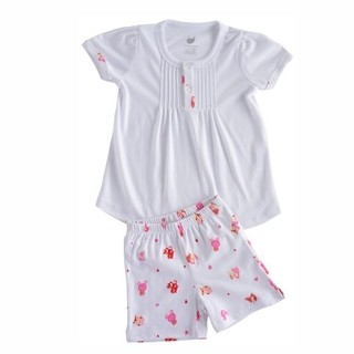 Pijama Little Friends com bata manga curta e short - Pima Cotton