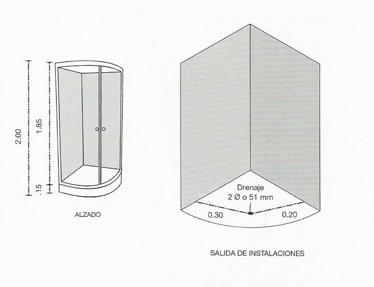 Medidas Regadera De Baño:Cancel de baño Curvo – Comprar en Oikos Design