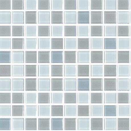 Malla 4mm crystal mosaics gris blanco 455 for Recubrimiento para azulejos