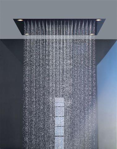 Regadera de ba o amazonas 80x60 cm tipo lluvia con luz led for Manijas para regadera