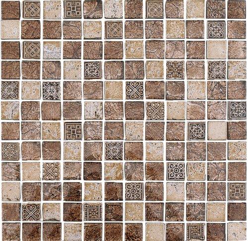 Cabinas De Baño Oikos:Malla 8mm Crystal Mosaics Atika Bronce – Oikos Design