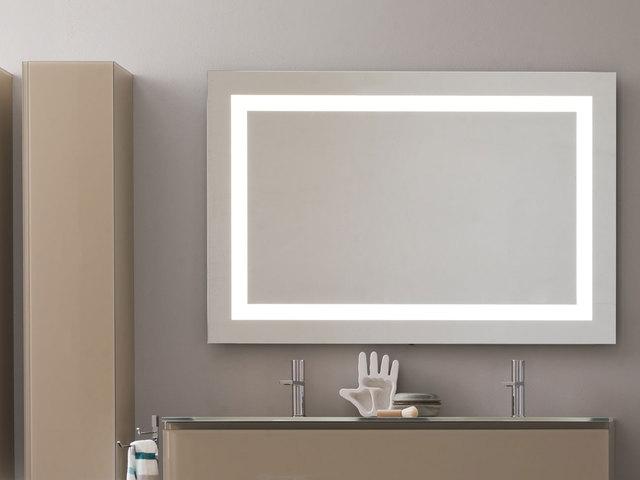Tinas De Baño Oceanic:Espejo para baño luz led marco