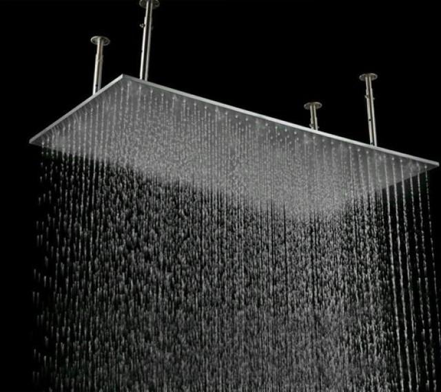 Regadera de ba o niagara 50x100 cm tipo lluvia con luz led for Regadera de bano precio