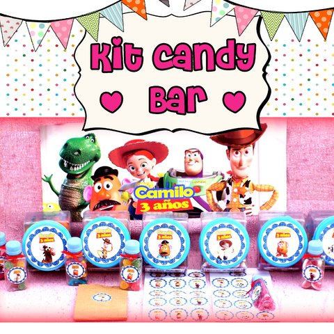Kit Candy Bar + Souvenirs personalizados