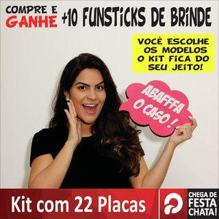 KIT PRATA -  22 PÇS PLACAS DIVERTIDAS