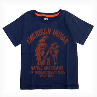 Remera Clásica m/c Azul Est American Indian