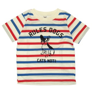 Remera Clasica m/c azul/rojo/blanco est Rules Dog