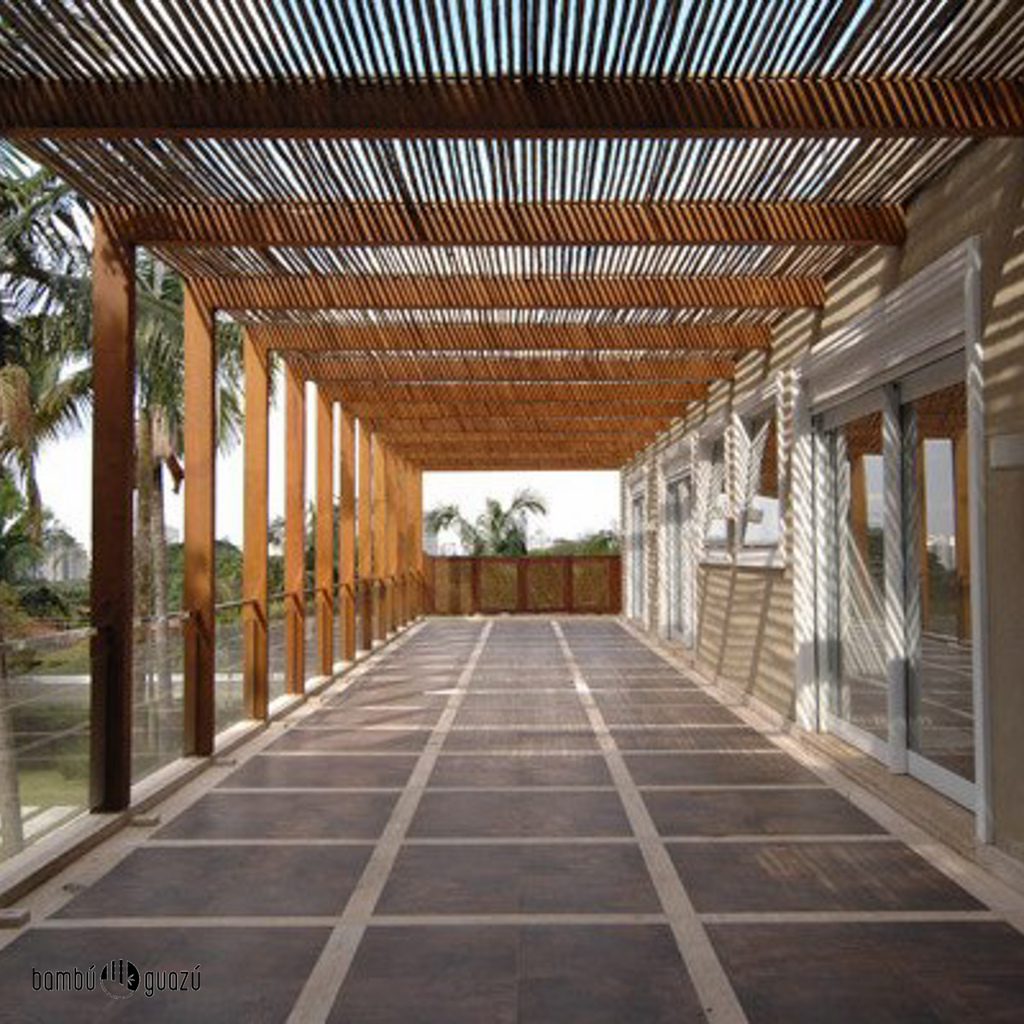 pergolas hechas con bambu innovation