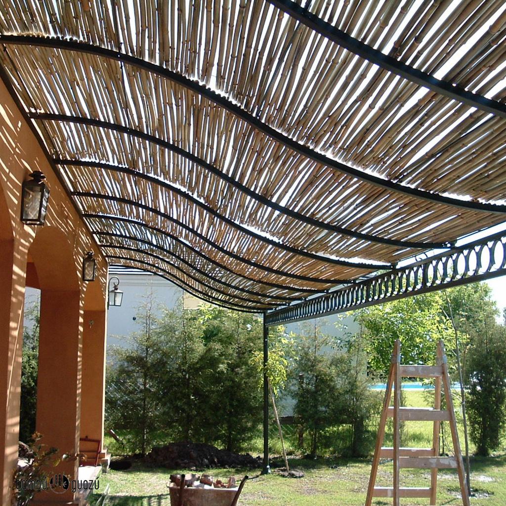 1000 images about ideias on pinterest - Pergolas de bambu ...