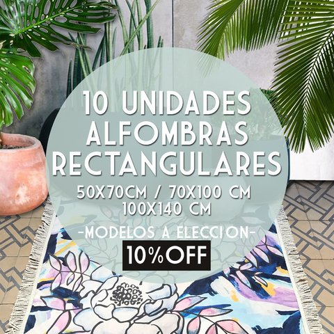 PACK 10 UNIDADES * ALFOMBRAS RECTANGULARES