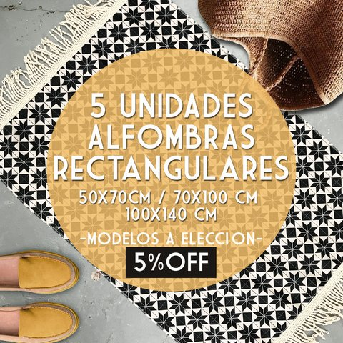 PACK 5 UNIDADES * ALFOMBRAS RECTANGULARES