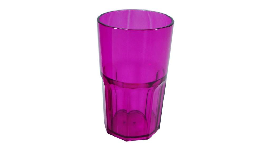 Vaso acr lico facetado - Vasos de colores ...