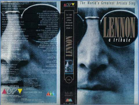 John Lennon A Tribute - The world's greatest artists sing - vhs original Michael Jackson