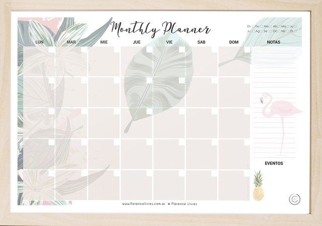 Month Planner - Hawaii en internet