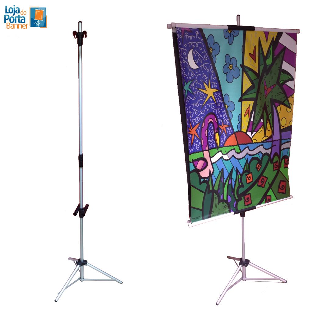 Porta banner 2 20 m com garras para 2 banners loja do for Porta m