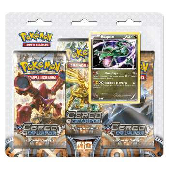 Pokémon: XY11 Triple Pack Blister Rayquasa - comprar online