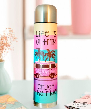 Termo Life is a trip Colores 1lt.