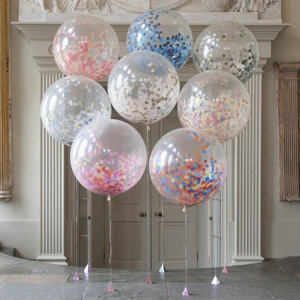 imagen de globos gigantes super redondos de 91 cms 2 unidades transparentes - Globos Transparentes