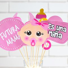 Photo Props para Baby Shower de Niña