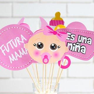 Photo Props Para Baby Shower De Nina