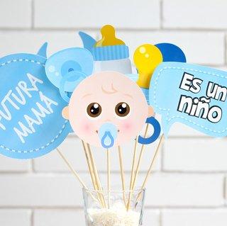 Photo Props Para Baby Shower De Nino