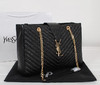 Bolsa Classic Monogramme Textured Shopping Bag Saint Laurent
