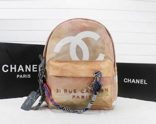 Mochila Graffiti Printed Canvas Chanel