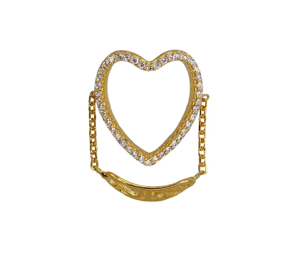 ANILLO HEART CHAIN GOLD