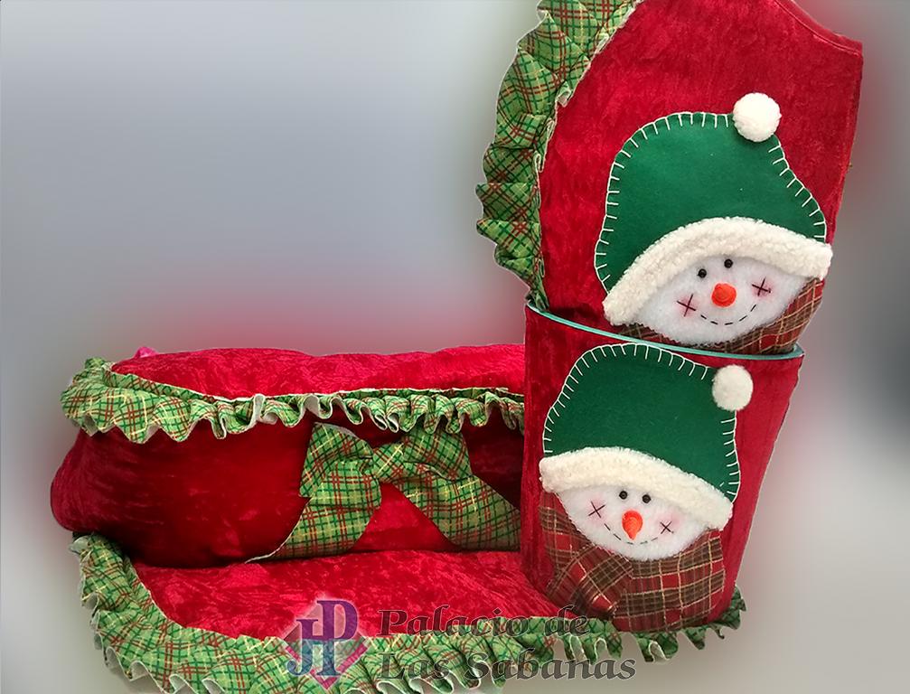 Baño Navideno Navidad:Juego de Baño Navidad Muñeco Nieve Rojo 2