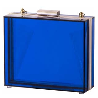 BLUE ACRYLIC CLUTCH