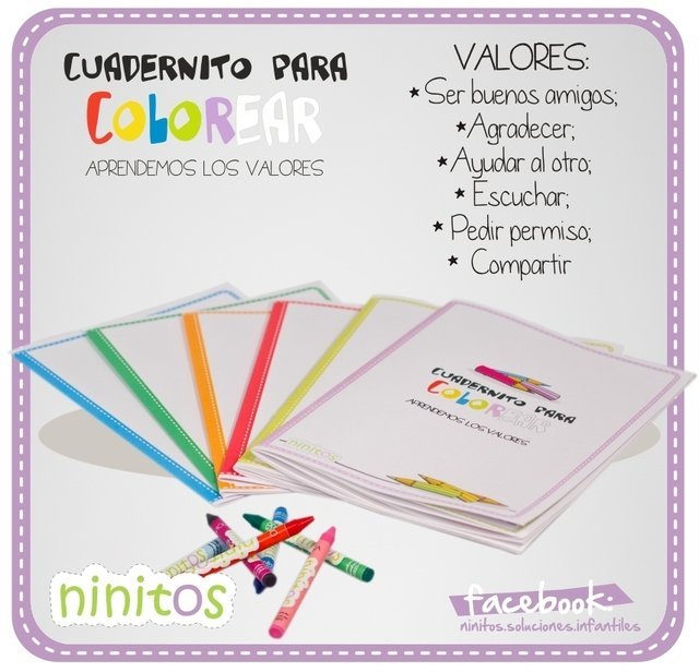 Cuadernitos para colorear: Los VALORES
