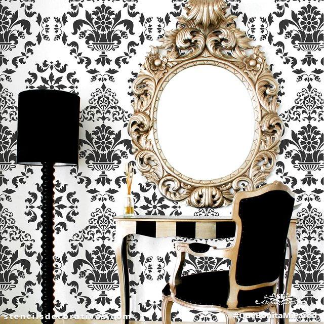 Plantillas para pintar paredes para imprimir resultado de - Plantillas decorativas pared ...