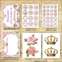 KIT CORONITA SHABBY CHIC - Pajaritorojo Happy Party