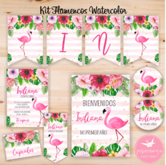 KIT FLAMENCOS WATERCOLOR en internet