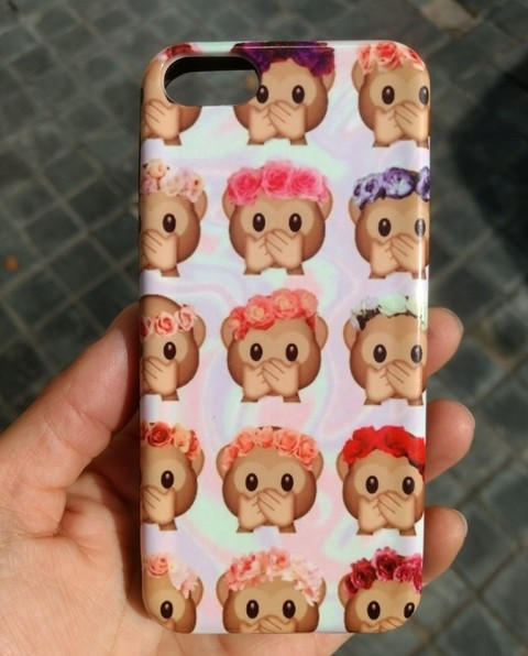 Funda rigida Monkey Emoji